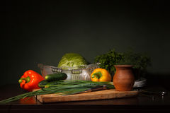 Still life with ingredients for a salad Stock Photo
