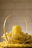 Still life with italian pasta Stock Images