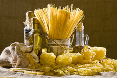 Still life with italian pasta Stock Image