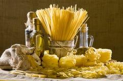 Still life with italian pasta Stock Image