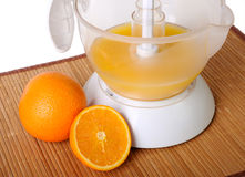 Still life with a juice extractor stock image