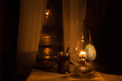 Still life with kerosene lamp Stock Photography