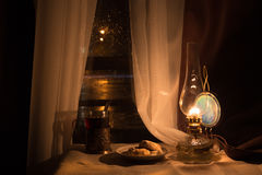 Still life with kerosene lamp Stock Image