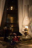 Still life with kerosene lamp Royalty Free Stock Images