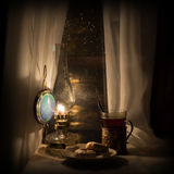 Still life with kerosene lamp Royalty Free Stock Photography