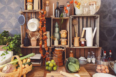 Still life from kitchen objects Royalty Free Stock Image