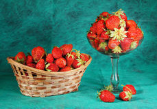 Still-life with a large strawberry Royalty Free Stock Photography