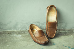 Still life with leather shoes womens Royalty Free Stock Images