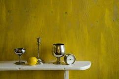 Still-life with lemon Stock Photography