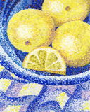 A still life with lemons Royalty Free Stock Image