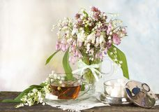 Still life with lilies Royalty Free Stock Photos