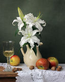Still life with lilies Stock Photo