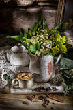 Still Life With Lily Of The Valley Stock Photos