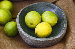 Still-life with limes Royalty Free Stock Photography