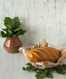 Still life with a loaf of bread. Royalty Free Stock Photos