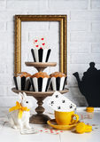 Still life Mad tea party with bunny Royalty Free Stock Photo