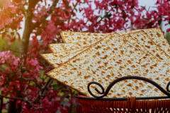 Still-life with matzoh jewish passover bread Royalty Free Stock Photography