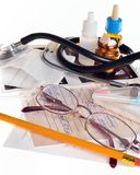 Still life of medical items to treat Royalty Free Stock Photography