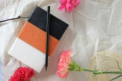 Still life memory book note Stock Photo