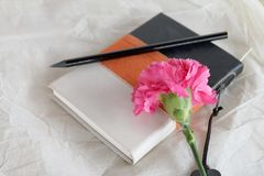 Still life memory book note Stock Photos
