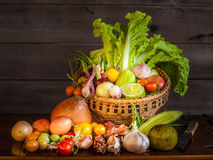 Still life of mix vegetable Royalty Free Stock Image