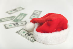 Still-life with money - Christmas expenses Stock Images