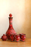 Still-life with Moroccan pottery Royalty Free Stock Photo