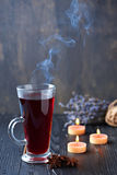 Still life with mulled wine Royalty Free Stock Images