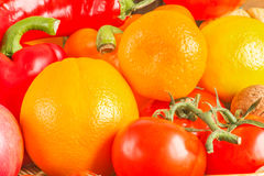 Still life with multicolored fruits and vegetables Royalty Free Stock Image