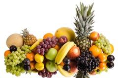 Still life multifruit. Still life of big  heap multi-coloured fruits , on white background, isolated Stock Images