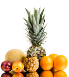 Still life multifruit. Still life of  multi-coloured fruits , on white background, isolated Stock Photos