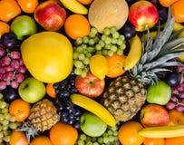 Still life multifruit. Still life of big  heap multi-coloured fruits,  background Stock Image