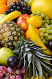 Still life multifruit. Still life of big  heap multi-coloured fruits,  background Royalty Free Stock Photography