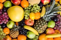 Still life multifruit. Still life of big  heap multi-coloured fruits,  background Stock Images