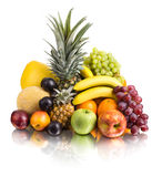 Still life multifruit. Still life of  multi-coloured fruits , on white background, isolated Royalty Free Stock Photos