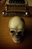 Still life music skull Royalty Free Stock Photo