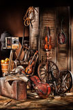 Still Life With Musical Instruments Stock Photos