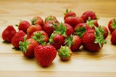 Still life of natural fresh strawberries. Stock Photo
