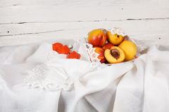 Still life with  nectarine Royalty Free Stock Images