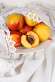 Still life with  nectarine Stock Photo