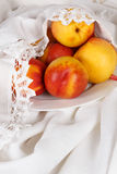 Still life with  nectarine Royalty Free Stock Photos