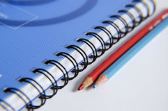 Still-life with a notebook. Still-life of pencils with a notebook Royalty Free Stock Images