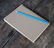 Still life with notebook and pencil Royalty Free Stock Photo