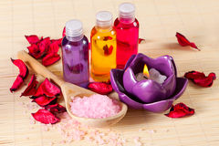 Still life of objects for spa treatments Stock Photo