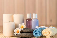 Still life objects for spa treatments. Closeup Stock Image