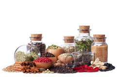 Still Life Of Different Spices And Herbs Royalty Free Stock Photo