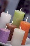 Still Life Of Home Lighting Candles Or Catalyst Lamp Royalty Free Stock Images