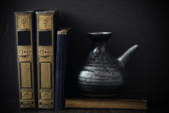 Still life of old blank books Stock Image