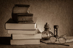 Still life old books Royalty Free Stock Photos