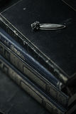 Still life of old books with bookmark Stock Image